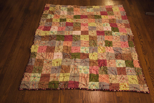 patchwork quilt - after shrinking