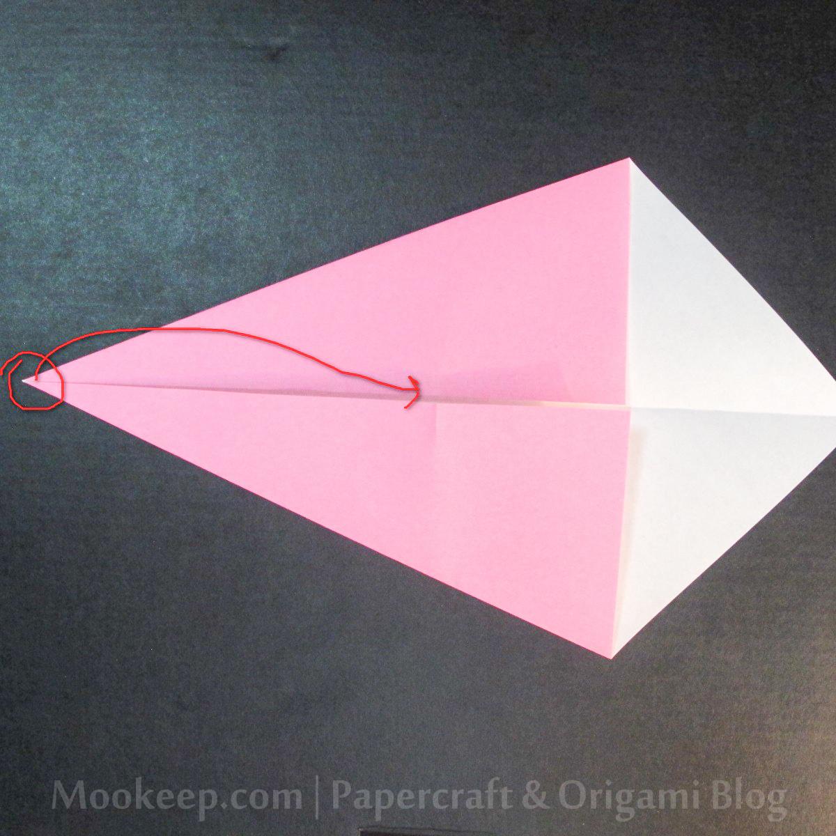 สอนวิธีการพับกระดาษเป็นรูปเป็ด (Origami Duck) - 009.jpg