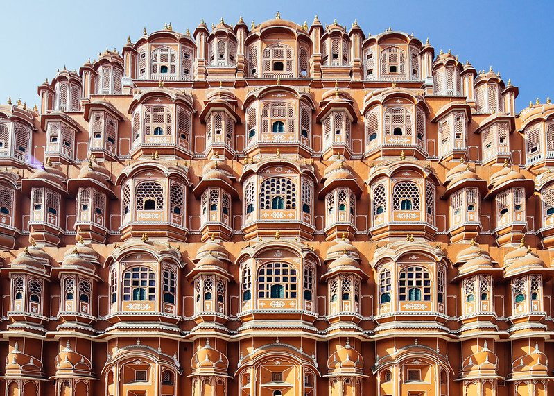 The Hawa Mahal.