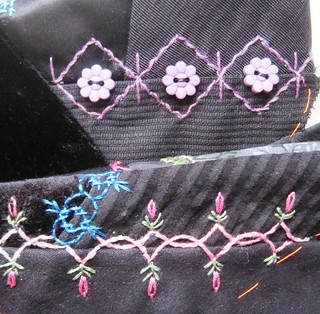 crazy quilt seam treatments