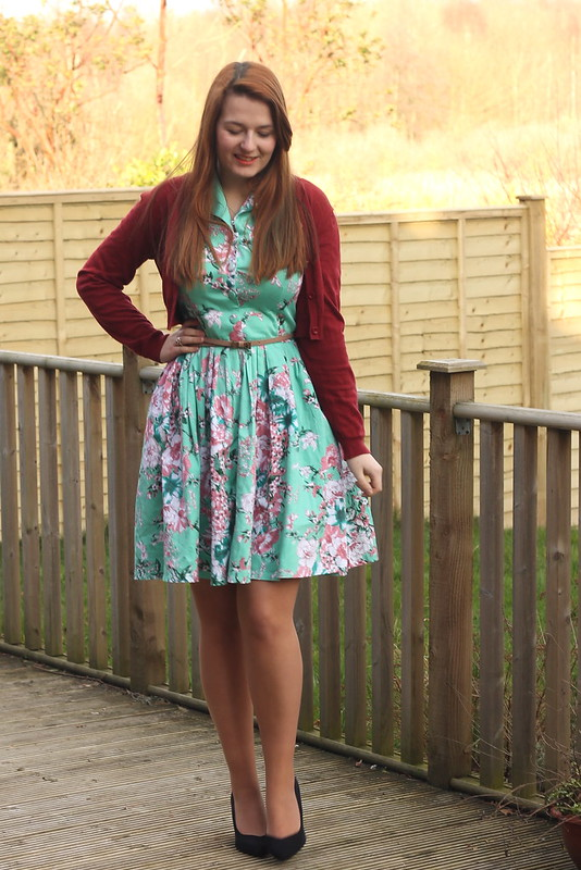 outfit of the day, floral dress