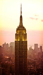 Sun Falls on New York City
