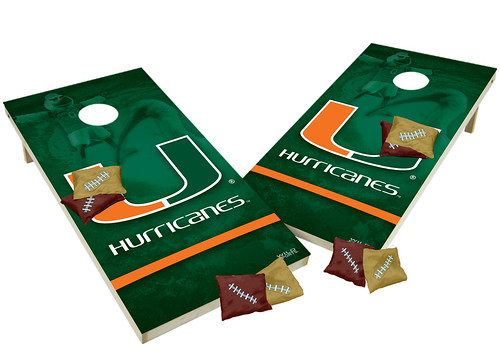 Miami Hurricanes Custom Cornhole Boards XL