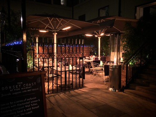 <p>The Fish Market restaurant, New Street, London</p>