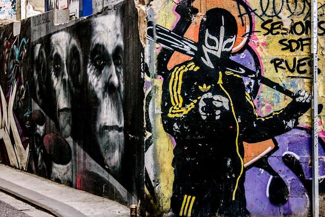 Graffiti Valencia. Izquierda Mankey