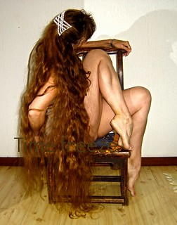 More of the hair and the chair with