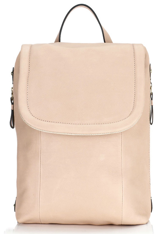 jigsaw nude leather rucksack
