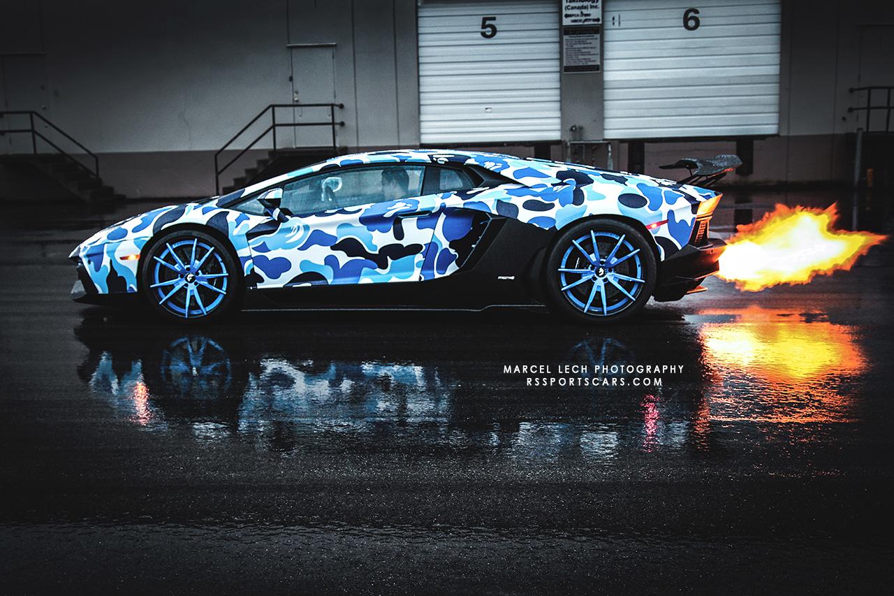 Lamborghini Aventador With Bape Camo Vinyl Wrap X Post R