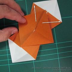 วิธีพับกระดาษเป็นรูปหมี (Origami Bear) 005