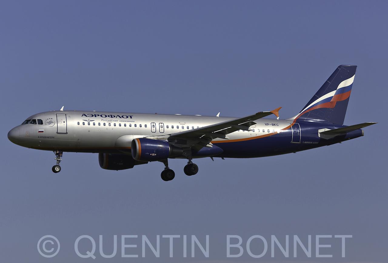 Aeroflot Airbus A320-214 VP-BKC