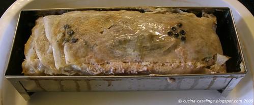 Pastete aus dem Ofen
