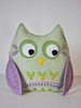 Spring Owl - green and mauve by HibouDesigns