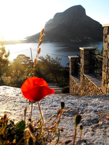 sunset sun island greece poppy kalymnos dodecanese telendos
