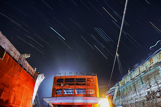A Star Trail From The Dockyard