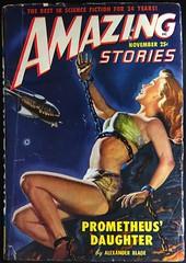 Amazing Stories (Nov, 1949). Cover Art by Arnold Kohn