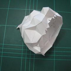 วิธีทำโมเดลกระดาษคุกกี้รสคุกกี้แอนด์ครีม  (Cookie Run Cream Cookie Papercraft Model) 007