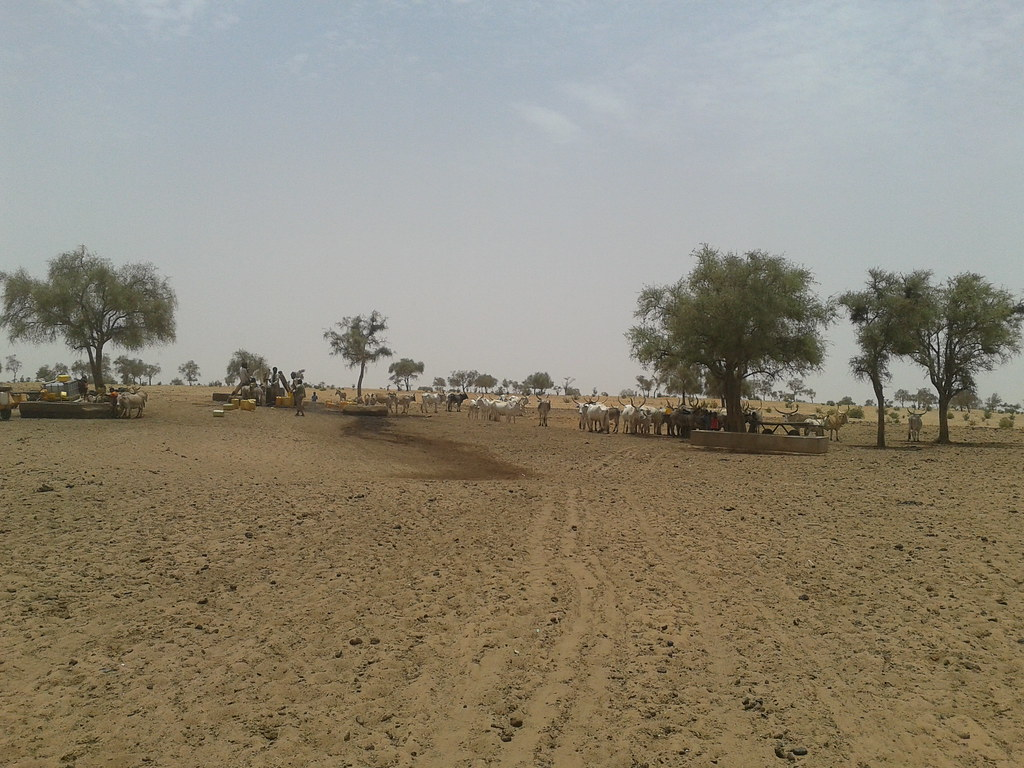Water well on the track to Niassante, Senegal