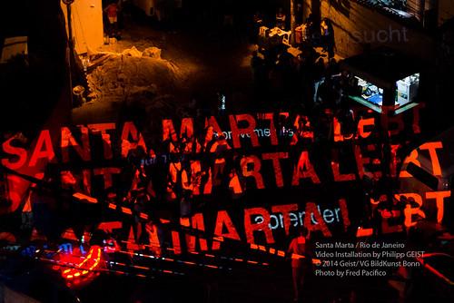 Video Mapping Philipp Geist_Germany+Brazil 2013-2014_- Santa Marta 2014_©Fred Pacífico/Porã