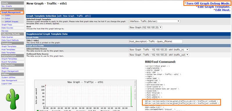 how to see graph in nagios