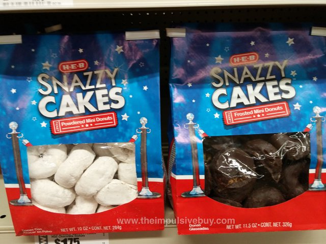 H-E-B Snazzy Cakes (Powdered Mini Donuts and Frosted Mini Donuts)
