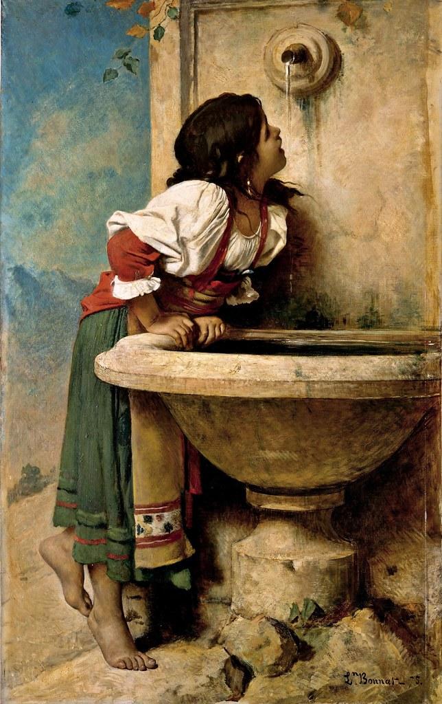 Léon Bonnat - Fille romaine à la fontaine