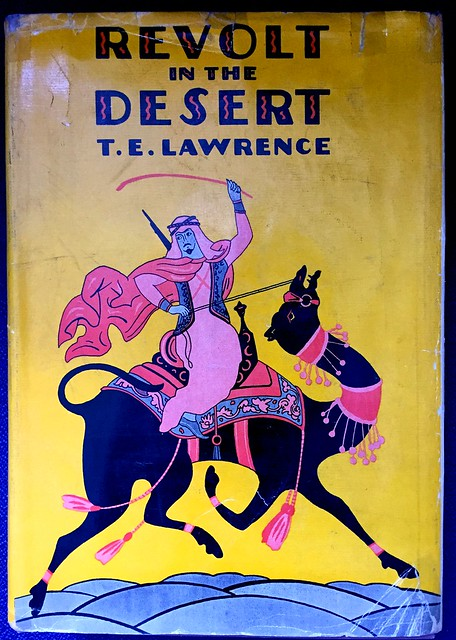 Dust jacket from Revolt in the Desert, by T. E. Lawrence, first American edition