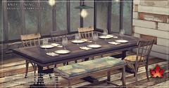 Trompe Loeil Laney Dining Set for FaMESHed August