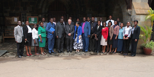 The Archbishop of Canterbury with All. Saints' Cathedral Clergy and Staff