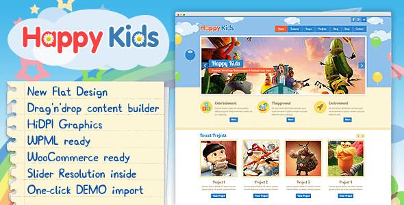 Happy Kids WordPress Theme free download