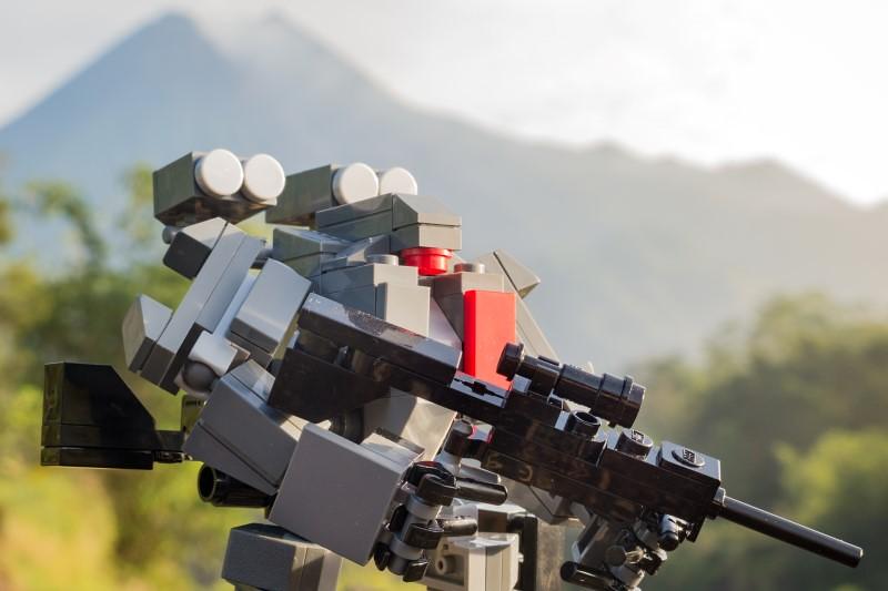 Morning Walk (custom built Lego model)
