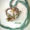 Butterfly in the garden #spring #wirependant #butterfly #springjewelry #wirewrappedjewelry #natureinspired #czechglassflowers #lilruby #bohojewelry #artisanjewelry #floraljewelry #flowers