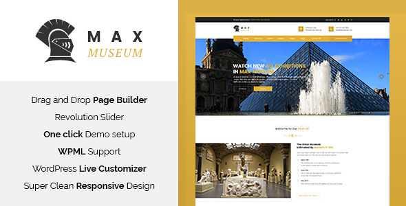 Max Museum WordPress Theme free download