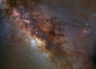 looking into the center of the Milky Way