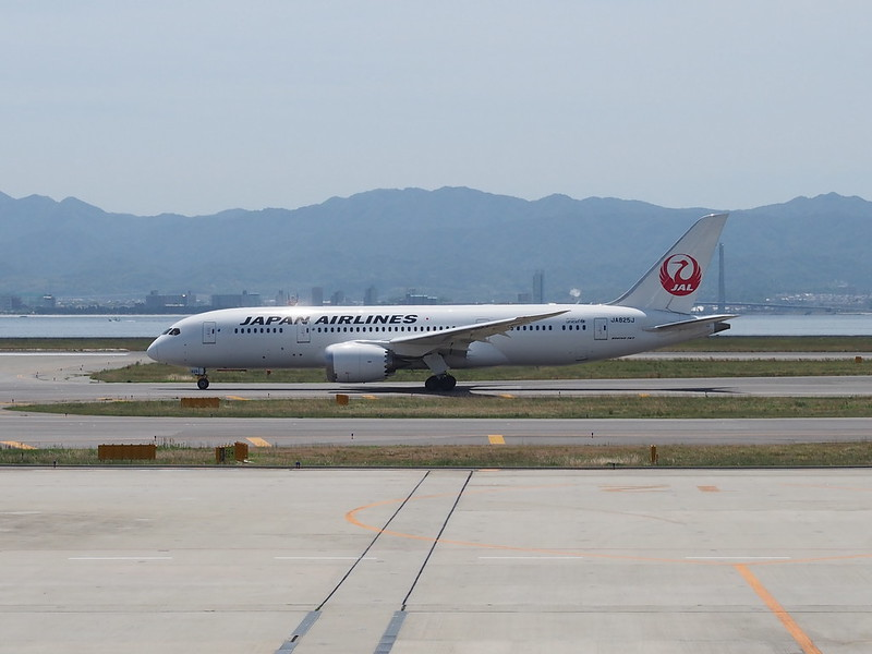 JAL B787 in Kansai International Airport