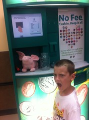 """There was 33 dollars of change in my piggy bank?!!"""