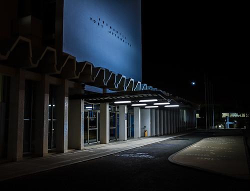 light shadow night canon concrete noparking pillar 7d handheld fremantle westernaustralia 1740 portauthority zigzags f4l victoriaquay yellowbin