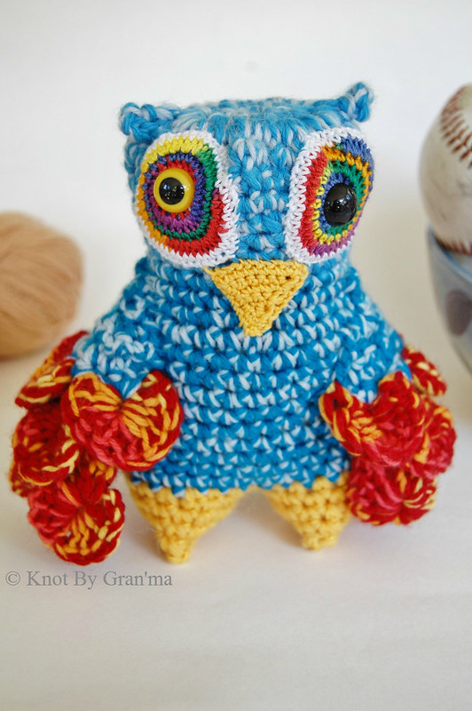 Crochet Owl Monster Doll by Knot By Gran'ma