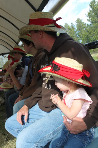 nati on the chuckwagon ride clasping her hands together
