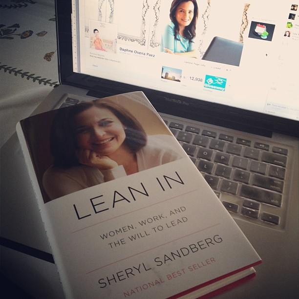 I bought #LeanIn book yesterday after hearing that @sherylsandberg COO of Facebook was supposed to be on the same flight. Very inspiring for women - about success, equality, having it all, the myths & truths. Sheryl, can we be friends? I'm facebook.com/da