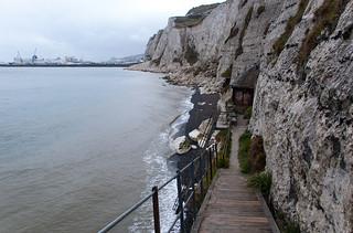 Langdon Searchlights Battery au pied des White Cliffs