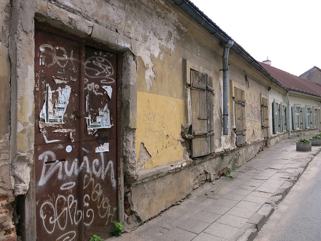 Graffiti in the Old Town.