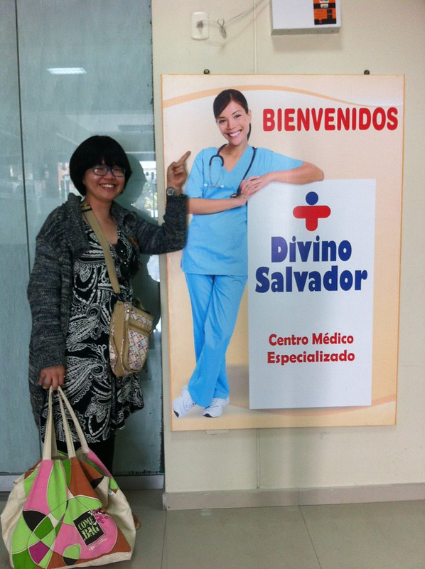 Overexposed Model in a clinic ad in Arequipa, Peru.