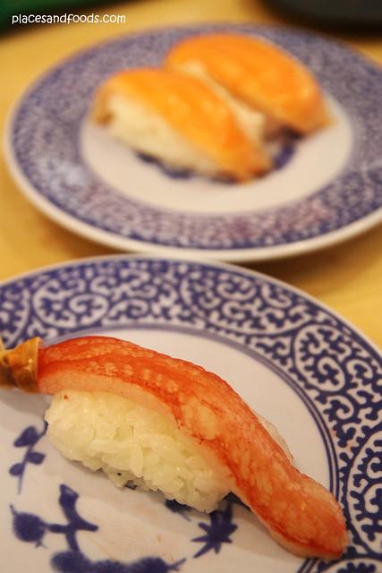 Kura Sushi 無添 くら寿司金閣寺店 crab sushi