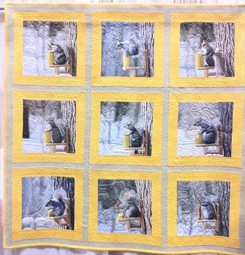 The Squirrels' Speech~ Quilt by Barbara Barrick McKie