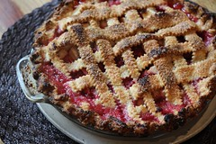 berry(0.0), plant(0.0), produce(0.0), fruit(0.0), streusel(0.0), cranberry(0.0), raspberry(0.0), pie(1.0), baking(1.0), blackberry pie(1.0), rhubarb pie(1.0), linzer torte(1.0), baked goods(1.0), food(1.0), dish(1.0), dessert(1.0), cherry pie(1.0),