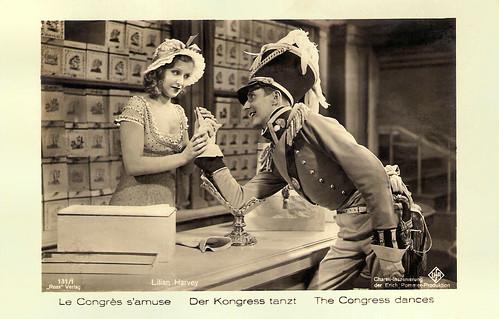 Lilian Harvey and Carl-Heinz Schroth in  Der Kongress tanzt (1931)