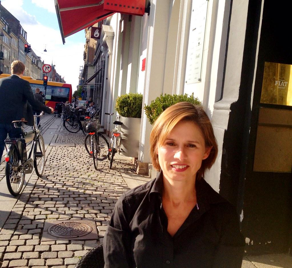 Lovely Helle Thorup at Copenhagen Fiat - in the sun