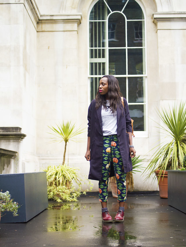 how to wear printed Nadinoo Anthropologie Trousers