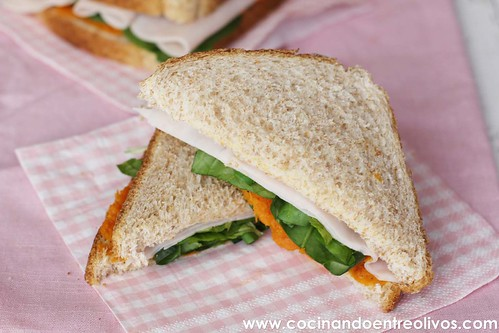 Sandwiches de pavo y calabaza www.cocinandoentreolivos (11)