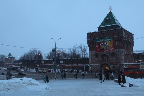 Outside the Kremlin in Nizhny Novgorod